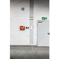 Vloermarkeringstape Durable, tweekleurig, zelfklevend, 30 m lengte, groen/wit