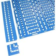 Vloerrooster Work Deck hoek 112x112mm, blauw