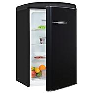 Vollraumkühlschrank exquisit RKS120-V-H-160F, 75 W, 122 l, 41 dB, 3 Fächer/1 Frischefach/3 Türfächer, B 550 x T 575 x H 895 mm, Retro-Optik, m.schwarz