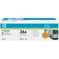 Voordeelpak 2 x HP LaserJet CE436AD (Nr. 36AD) printcassette zwart