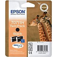 Voordeelpakket 2 stuks Epson inktcartridges T07114011 zwart