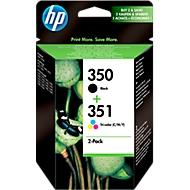 Voordeelpakket 2 stuks HP inktpatronen Nr. 350/351 zwart, color (SD412EE)