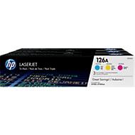 Voordeelpakket 3x HP LaserJet CF341A printcassette cyaan, geel en magenta