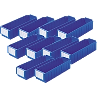 Voordeelset inzetbakken RK 421 blauw 10 stuks