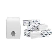 Voordeelset Kimberly Clark Kleenex vouwhanddoekjes Ultra Interfold + gratis dispenser