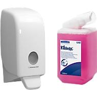Voordeelset Kleenex® Aquarius zeepdispenser+ 1 vulling schuimzeep