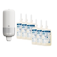 Voordeelset TORK® zeepdispenser + 1000 ml Mevon 55 Universal vloeibare zeep