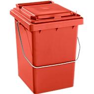 Voorsorteeremmer Mülli, B 175 x D 195 x H 300 mm, 10 liter, rood