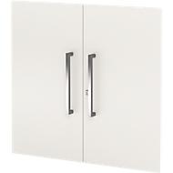Voorzetdeuren set AXXETO, 2 ordnerhoogten, H 760 mm, wit