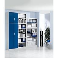 Vorbautür, für Regal Archivo Color, 5 Ordnerhöhen, B 1200 mm, enzianblau