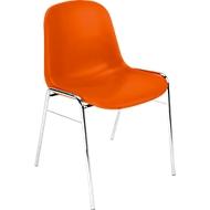 Vormige schaalstoel Beta, stapelbaar, bestand tegen desinfecterende middelen, zithoogte 460 mm, oranje