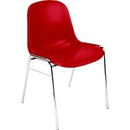 Vormige schaalstoel Beta, stapelbaar, bestand tegen desinfecterende middelen, zithoogte 460 mm, rood
