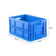 Vouwdoos in EURO-maat FK E-6320-2, 64 l, blauw