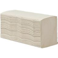 Vouwhanddoekjes, 2-laags, zigzag, naturel, 250 x 230 mm, 3750 vellen (15 x 250 st)