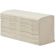 Vouwhanddoekjes, 2-laags, zigzag, naturel, 3250 x 230 mm, 3750 vellen (15 x 250 st)