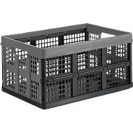 Vouwkrat voor inklapbare trolley CLAX, 46 l, grijs/zwart