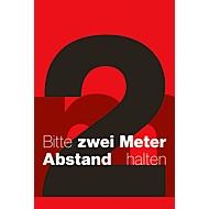 Vuilvangmat 2 m afstand, ontwerp 5, voor binnen, polyamide/vinyl, L 1200 x B 1800 mm, rood/zwart/wit