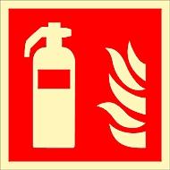 Waarschuwingsteken Brandblusser, HLF, 148 x 148 mm
