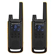 Walkie-Talkie MOTOROLA Talkabout T82 EXTREME, 10 km Reichweite, RSM-Mikrofon, IPX4, inkl. Zubehör & Tasche, 2 Stück