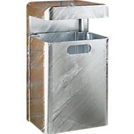 Wand-Abfallbehälter, 35 l, verzinkt
