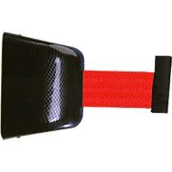 Wand-Gurtkassette, magnethaftend, 5 m, Gurt rot