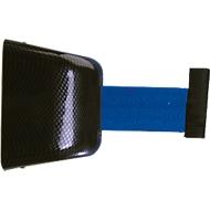 Wand-Gurtkassette, Schraubbefestigung, 5 m, Gurt blau