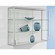 Wand-Präsentationsvitrine, 1020 x 300 x 1020 mm, silber