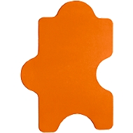 Wandabsorber Puzzle, B 1000 x H 500 mm, Polyestervlies in Filzoptik, orange