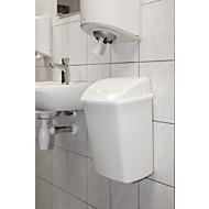 Wandafvalbak met swingdeksel,15 liter, L 235 x B 300 x H 405 mm, wit
