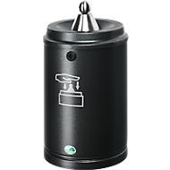Wandasbak VAR, met wandhouder, van plaatstaal, 15 liter