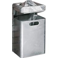 Wandascher-/Abfallkombination, 35 Liter, verzinkt