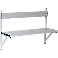 Wandbank, aluminium/edelstaal, lengte 1015 mm