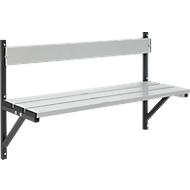 Wandbank, aluminium, lengte 1015 mm, antraciet (RAL 7016)