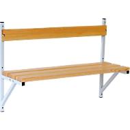 Wandbank, hout, lengte 1015 mm, lichtgrijs (RAL 7035)