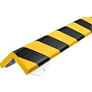 Wandbeschermingsset, type H+, 0,5 m. stuk, geel/zwart, 0,5 m.