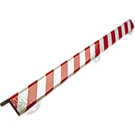 Wandbeschermingsset, type H+, 1 m. stuk, wit/rood reflecterend, wit/rood
