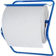 Wandhalter für Putztuchrollen, für Rollenbreite 400 mm, B 490 x T 300 x H 410 mm, Metall pulverbeschichtet