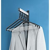 Wandkapstokelement, 4 kledinghangers