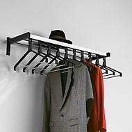 Wandkapstokken, 10 kledinghangers, hoedenplank