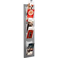 Wandmagazin, 6 Fächer DIN lang