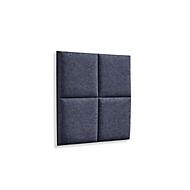 Wandpaneele m. Magnetbefestigung, B 604 x T 604 x H 47 mm, versch. 4 Square-Design, anthrazit/meliert