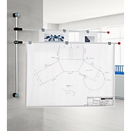 wandpresentatiesysteem, tot DIN A0, grijs
