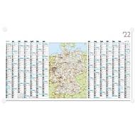 Wandterminplaner inkl. Karte, B 1140 x H 640 mm, Werbedruck 1000 x 80 mm, 100 Stück, Auswahl Werbeanbringung erforderlich