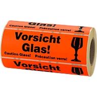 Warnetiketten, Vorsicht Glas!, 500 Stück