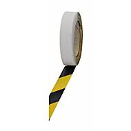 Warnmarkierungsfolie, lw, schwarz/gelb, 25mm x 25m
