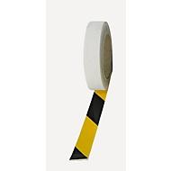 Warnmarkierungsfolie, rw, schwarz/gelb, 25mm x 25m