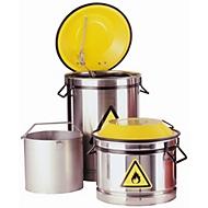 Wasch- und Tauchbehälter, Edelstahl 1.4301, rot, Ø 270 x H 430 mm, 20 l
