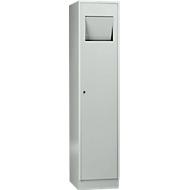Wasgoedkast, compartimentbreedte aan de binnenzijde 400 mm, afsluitbaar, zelfsluitende klep, lichtgrijs