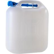 Wasser-Kanister ECO, mit Rohr, 20 l, natur