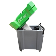Wastafel BIO-CIRCLE® SL Compact, 700 W, 380 l/u, tot 100 l, tot 48 °C, tot 100 kg, recirculerend + industriële reiniger Vloeistof, 5 canisters á 20 l